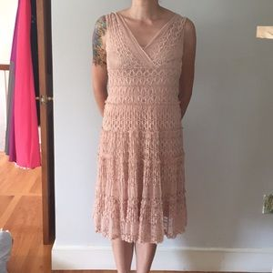 Lace soft pink dress, vintage look, Medium,perfect